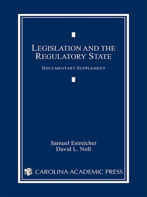 cover image of Legislation and the Regulatory State Documentary Supplement