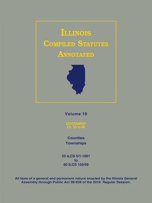 Cover Image Of Illinois Compiled Statutes Annotated