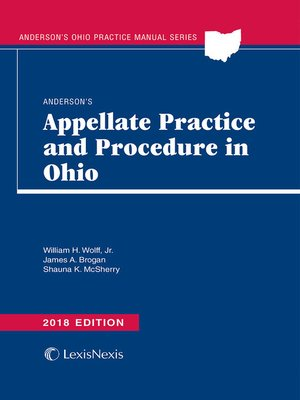 cover image of Anderson's Appellate Practice and Procedure in Ohio