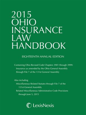 cover image of 2015 Ohio Insurance Law Handbook
