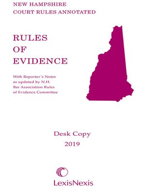 cover image of New Hampshire Rules of Evidence