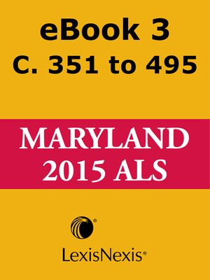 cover image of Maryland Advance Legislative Service