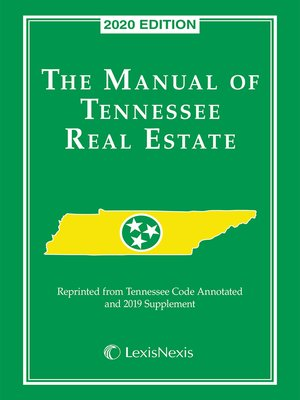 cover image of The Manual of Tennessee Real Estate