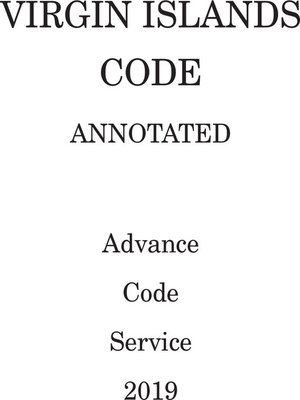 cover image of Virgin Islands Code Annotated