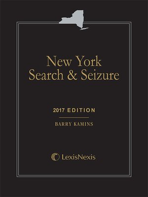 cover image of New York Search and Seizure