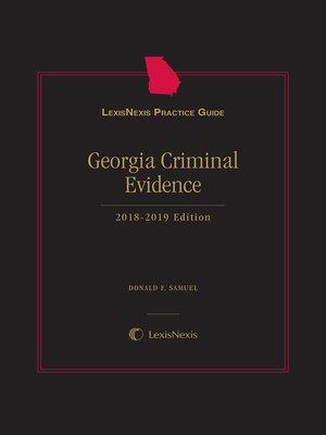 cover image of LexisNexis Practice Guide: Georgia Criminal Evidence