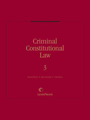 cover image of Criminal Constitutional Law
