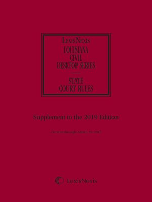 cover image of Louisiana Court Rules