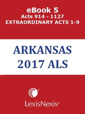 cover image of Arkansas Advance Legislative Service