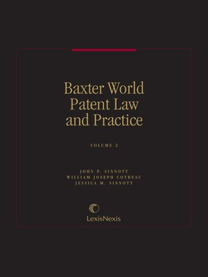 cover image of Baxter, World Patent Law and Practice