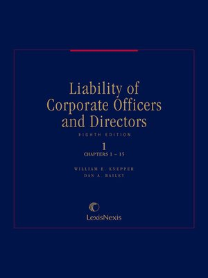 cover image of Liability of Corporate Officers and Directors