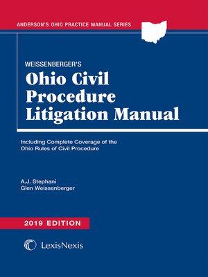 cover image of Weissenberger's Ohio Civil Procedure Litigation Manual