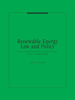 cover image of Renewable Energy Law and Policy