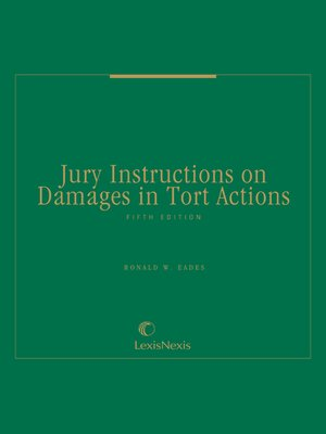 cover image of Jury Instructions on Damages in Tort Actions