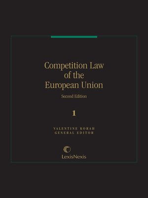 cover image of Competition Law of the European Community