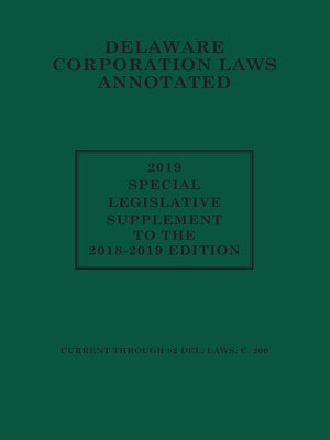 cover image of Delaware Corporate Laws Annotated