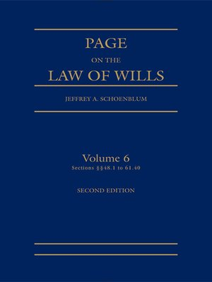 cover image of Page on the Law of Wills