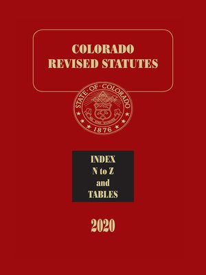 cover image of Colorado Revised Statutes