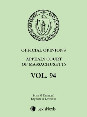 cover image of Massachusetts Official Reports
