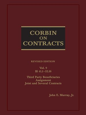 cover image of Corbin on Contracts