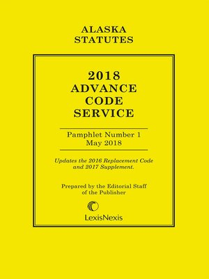 cover image of Alaska Advance Code Service