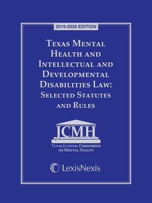 cover image of Texas Mental Health and Intellectual and Developmental Disabilities Law