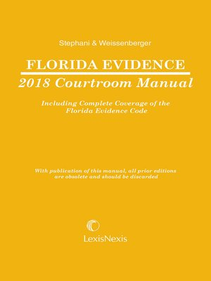 cover image of Florida Evidence Courtroom Manual