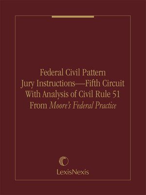 Federal Civil Pattern Jury Instructions Fifth Circuit With