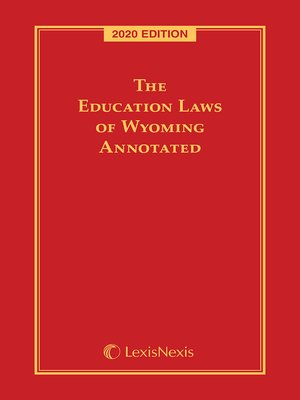cover image of The Education Laws of Wyoming Annotated