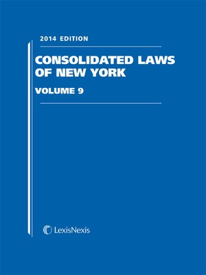 cover image of New York Consolidated Laws Unannotated