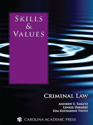 Cover of  Skills & Values Criminal Law