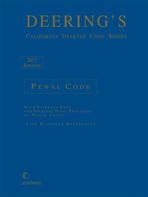 cover image of Deering's California Desktop Code Series