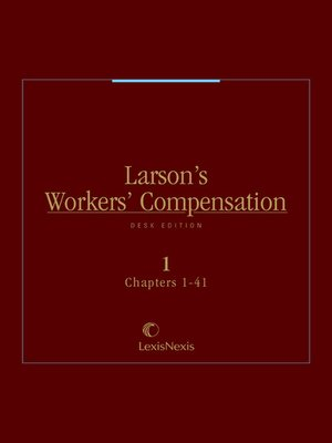 cover image of Larson's Workers' Compensation