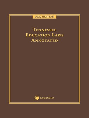 cover image of Tennessee Education Laws Annotated
