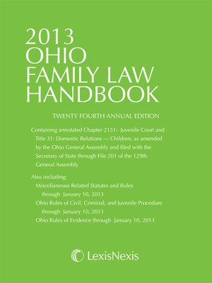 cover image of Anderson's Ohio Family Law Handbook