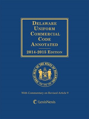 cover image of Delaware Uniform Commercial Code Annotated