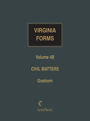 cover image of Virginia Forms