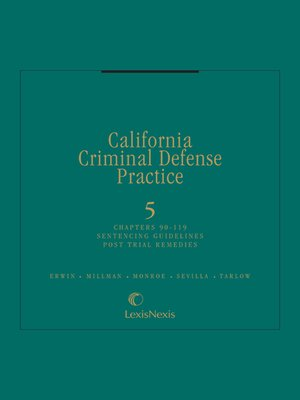 cover image of California Criminal Defense Practice