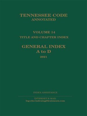 cover image of Tennessee Code Annotated
