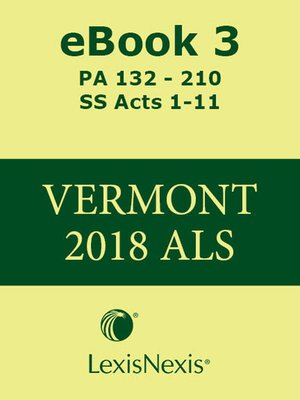cover image of Vermont Advance Legislative Service