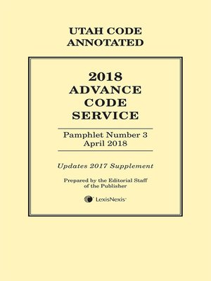 cover image of Utah Advance Code Service