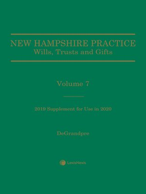 cover image of New Hampshire Practice: Wills, Trusts and Gifts