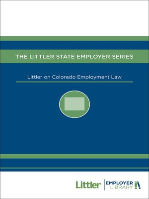 cover image of Littler on Colorado Employment Law