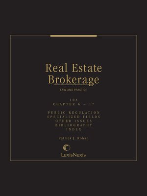 cover image of Real Estate Brokerage Law and Practice