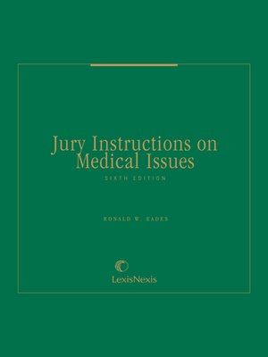 cover image of Jury Instructions on Medical Issues
