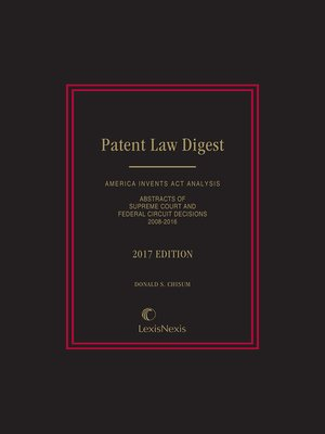 cover image of Patent Law Digest