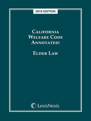 cover image of California Welfare Code Annotated