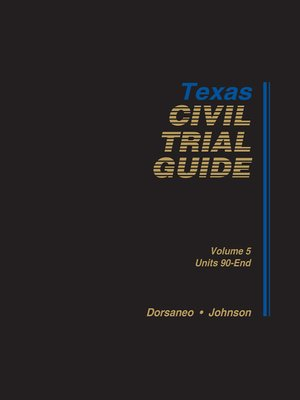 cover image of Texas Civil Trial Guide