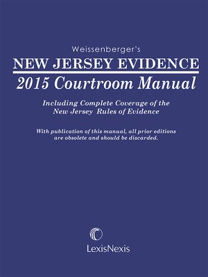cover image of New Jersey Evidence Courtroom Manual