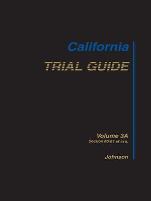 cover image of California Trial Guide